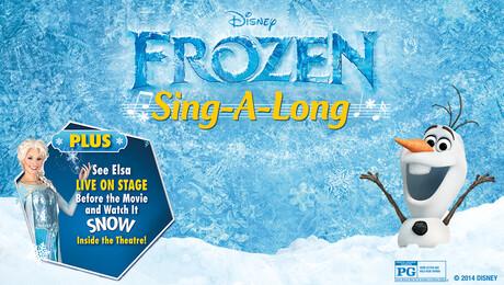 """""""Frozen Sing-A-Long"""", Plus Elsa Live"""
