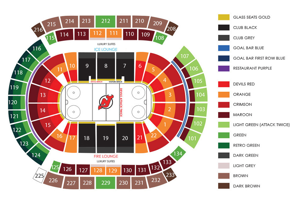 Prudential center newark tickets schedule seating charts goldstar