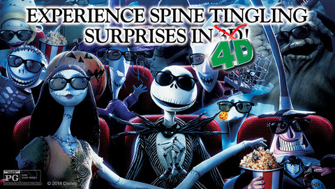 """The Nightmare Before Christmas"" in 3-D With 4-D Sensory Effects"