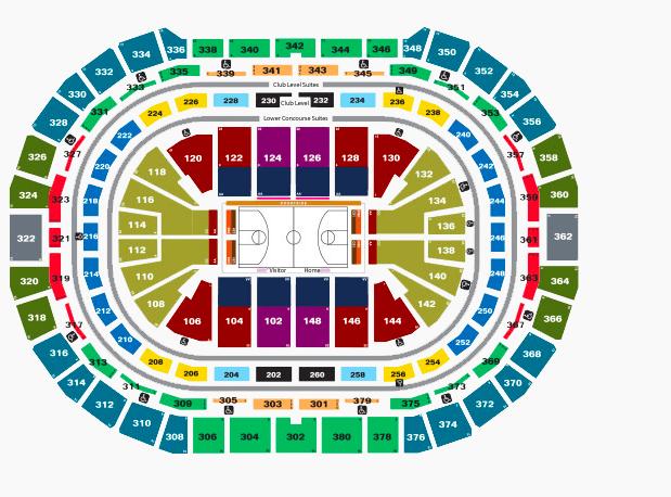 denver pepsi center seating chart