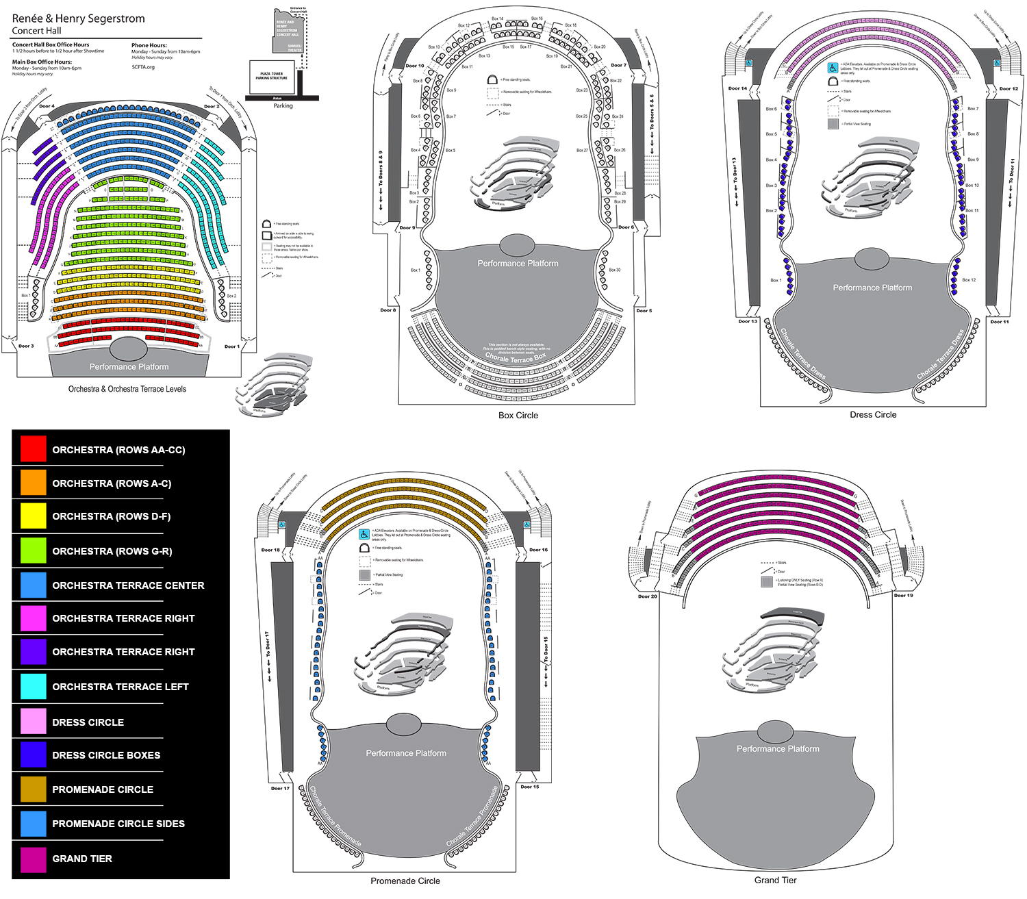 Seating Chart Chorale seating segerstrom tickets