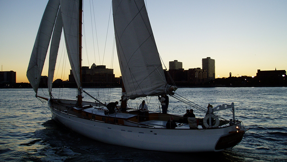 Champagne & City Lights Sail Aboard the Schooner America 2.0 $32.40 ($54 value)