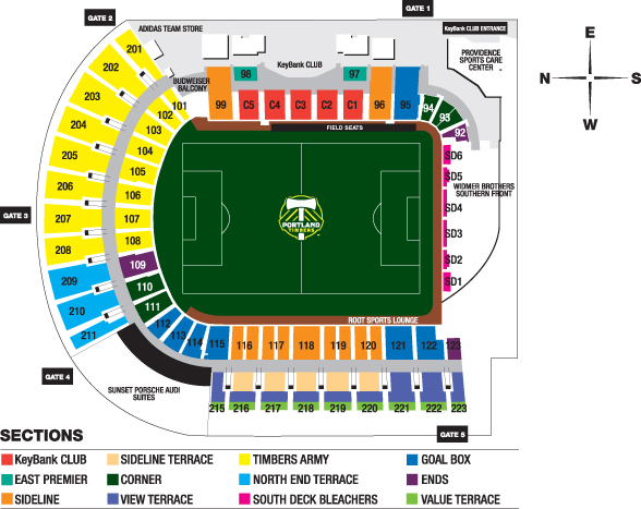 Providence park portland tickets schedule seating charts goldstar