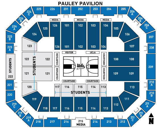 Pauley pavilion los angeles tickets schedule seating charts