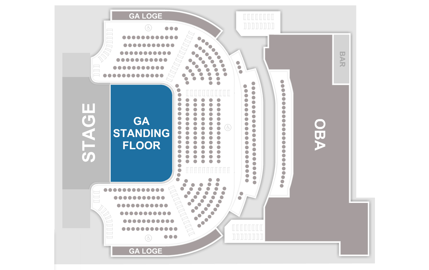 House Of Blues Cleveland Seating Chart Unmed Floor