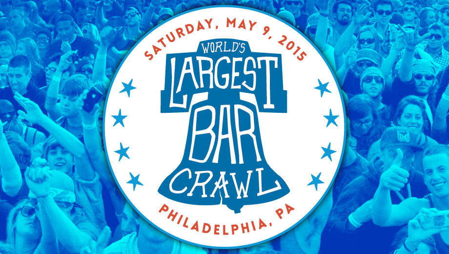 The World's Largest Bar Crawl: Be a Part of Drinking History COMP - $5.00 ($10 value)