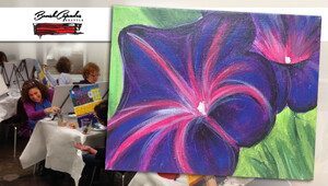 BrushCapades Seattle: Pretty Petunias Wine & Paint Party