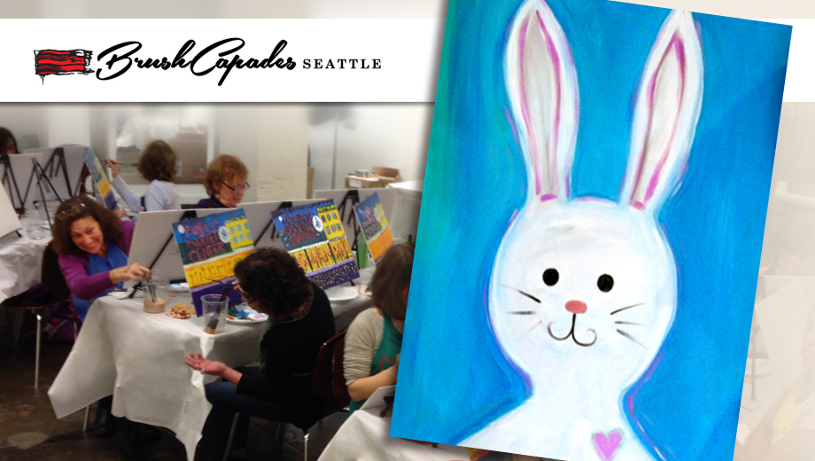 Create Your Very Own Bunny Painting: Fun Family Art Party $22.50 ($45 value)