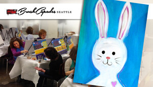BrushCapades Seattle: Hoppy Easter Seattle Wine and Paint Party