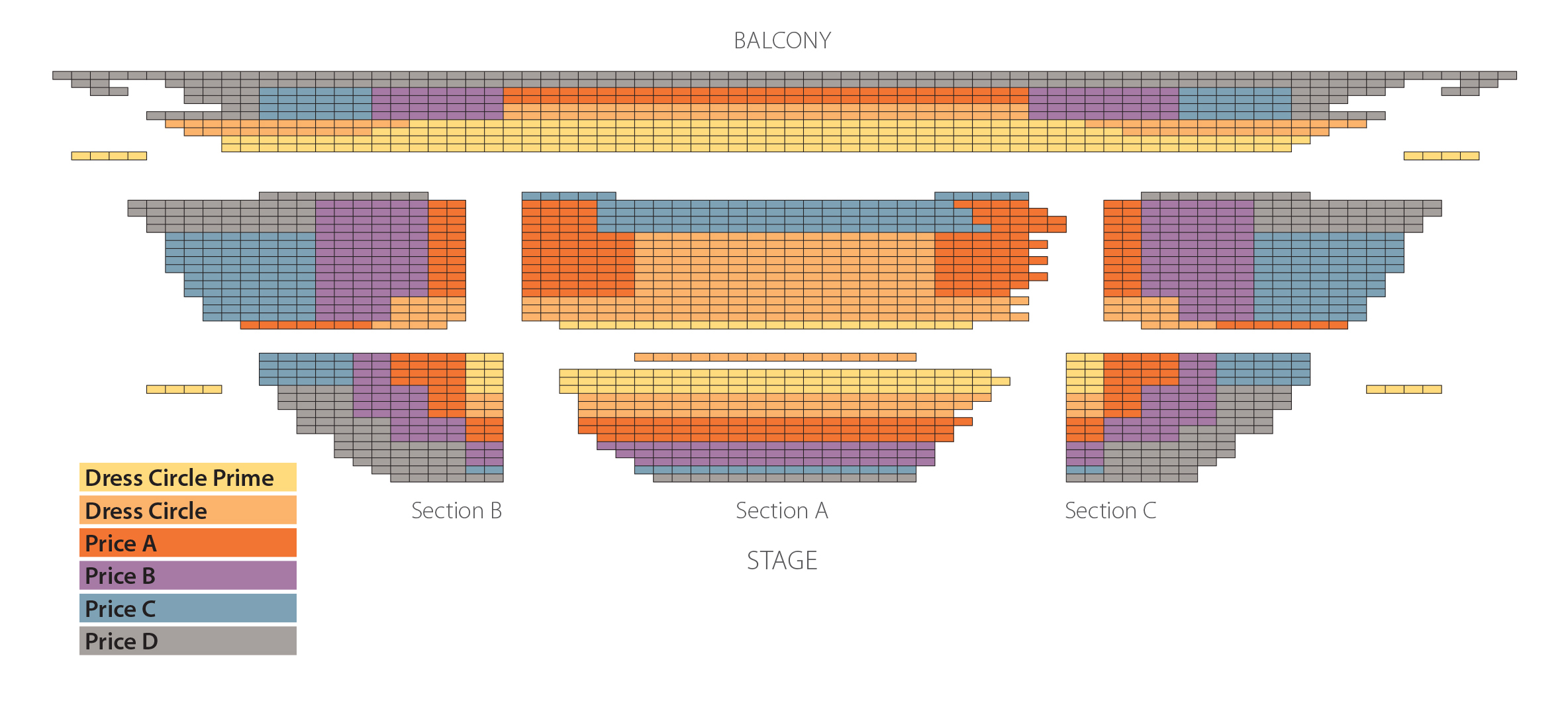 Phoenix Symphony Hall Classics Seating seating pops tickets seating chart