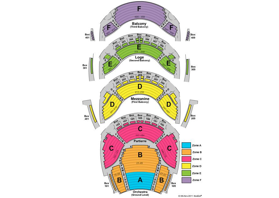 Ellie caulkins opera house denver tickets schedule seating