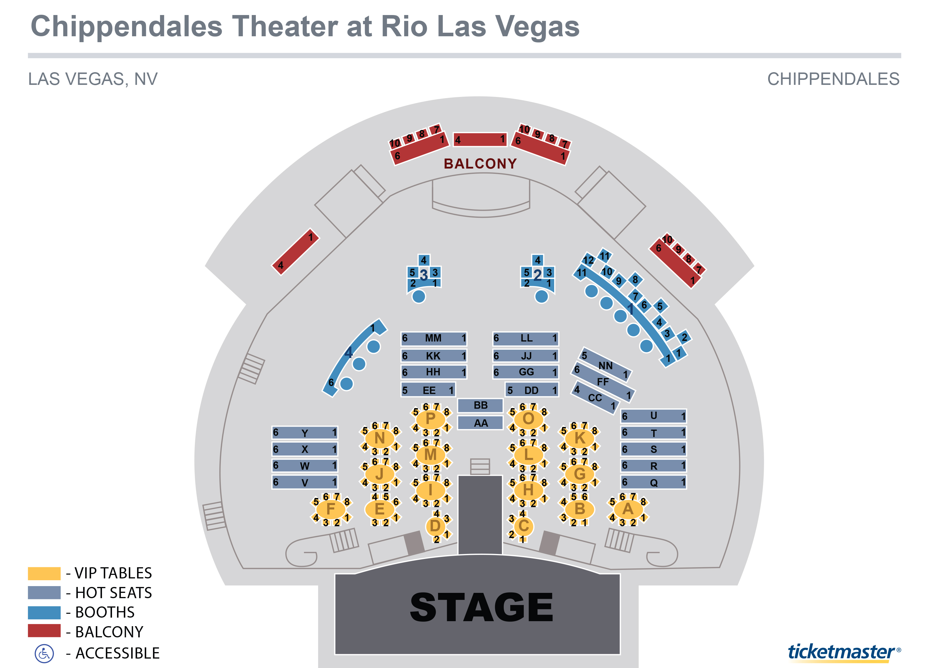 Chippendales Theater Seating