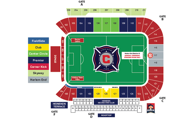 chicago fire seating chart