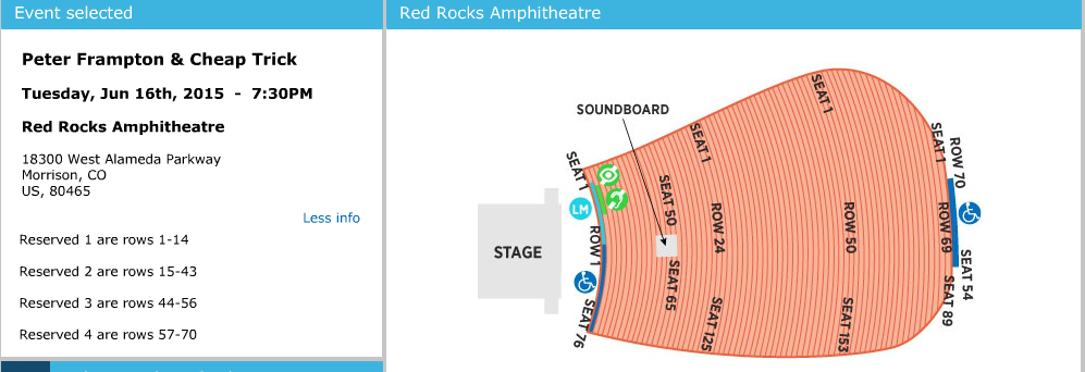 Red rocks amphitheatre morrison co tickets schedule seating