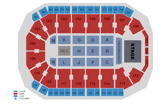 Allen event center dallas fort worth tickets schedule seating