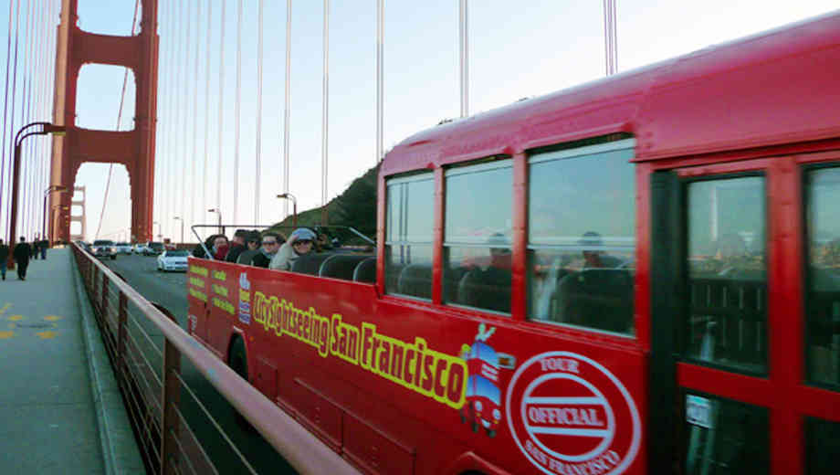City Sightseeing's Hop-On, Hop-Off Bus Tour: Golden Gate/Sausalito $16.50 ($32.99 value)