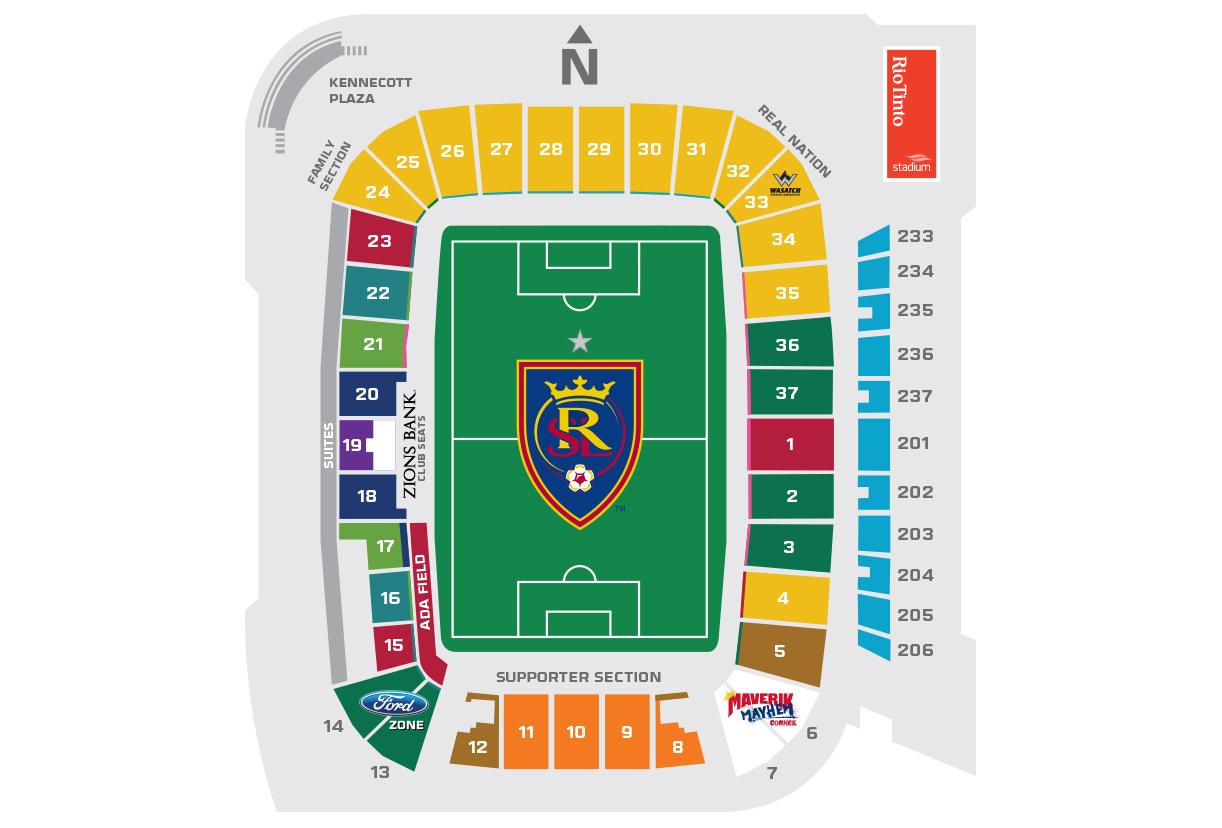 real salt lake seating chart. rio tinto stadium salt lake city tickets schedule seating