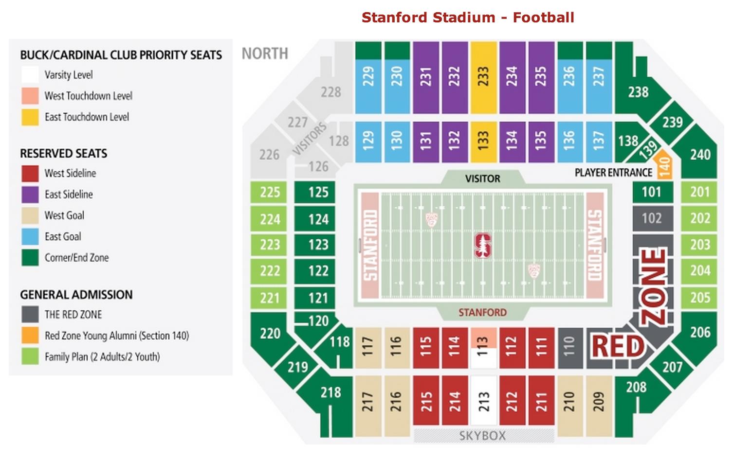 Stanford stadium san jose tickets schedule seating charts goldstar