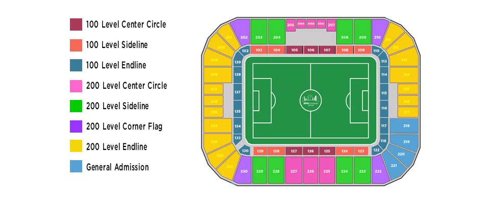 Bbva compass stadium houston tickets schedule seating charts