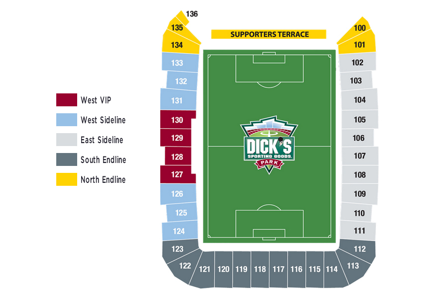 Dick s sporting goods park denver tickets schedule seating