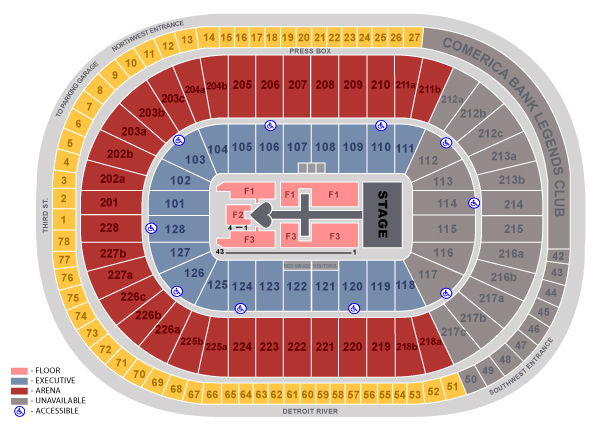 Joe louis arena detroit tickets schedule seating charts goldstar