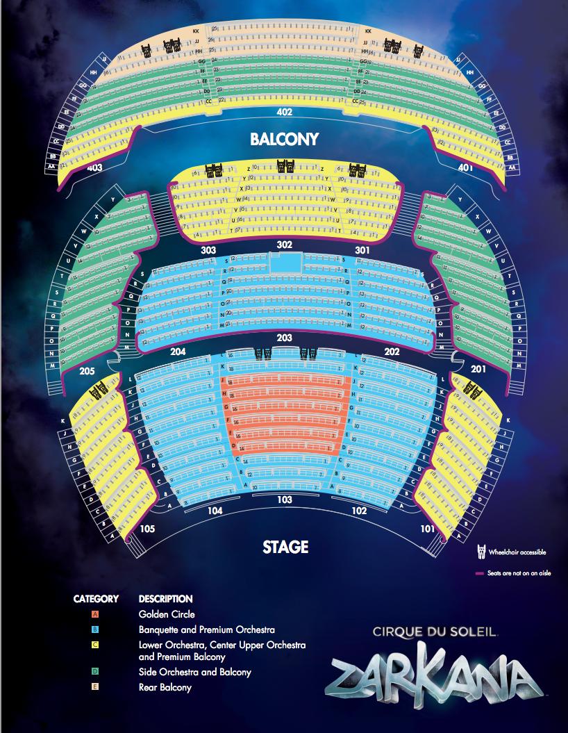 19 Inspirational Zarkana theater Seating Chart
