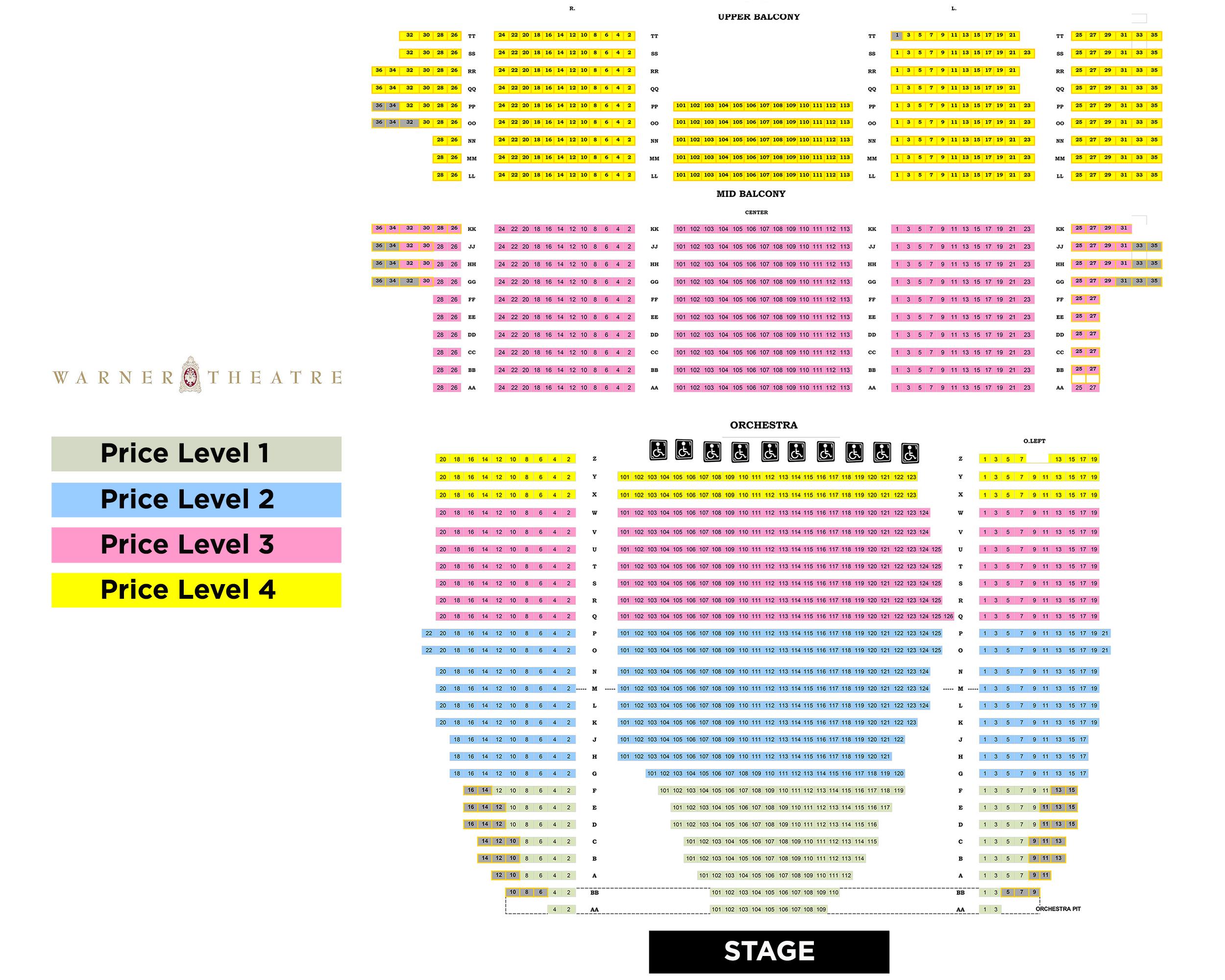 Warner theater dc seating chart mersn proforum co