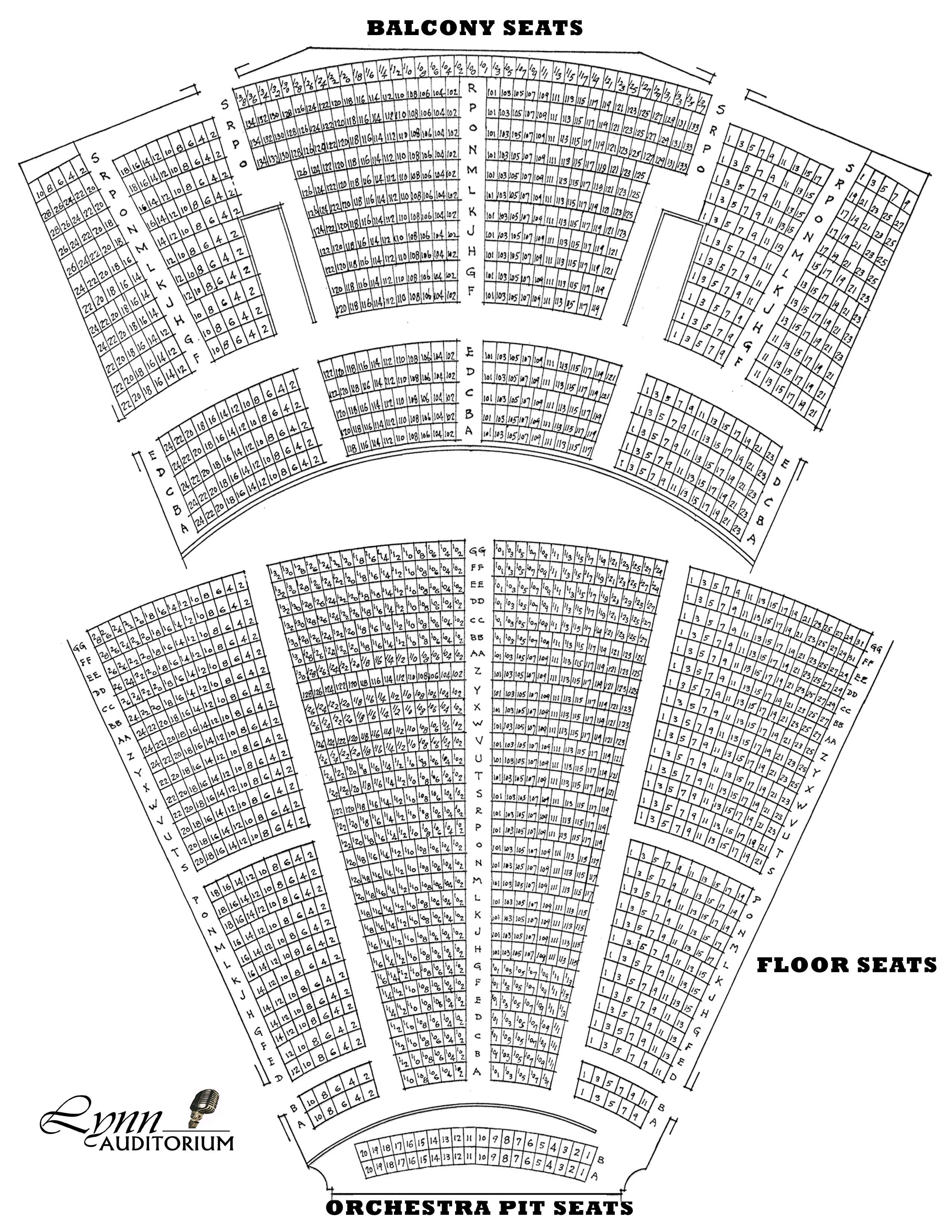 Seating Charts lynn auditorium Lynn Auditorium