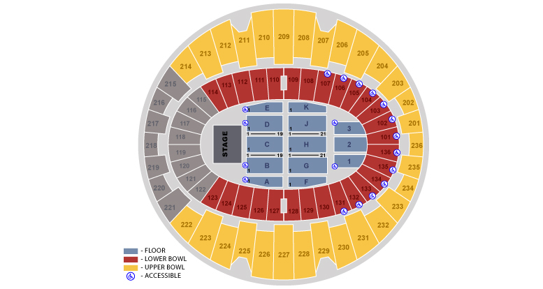 The Forum Seating Map The Forum, Inglewood, CA: Tickets, Schedule, Seating Charts | Goldstar The Forum Seating Map