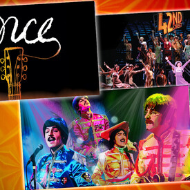 "3-Show Package for $99: ""Once"", ""Rain: A Tribute to the Beatles"" and ""42nd Street"