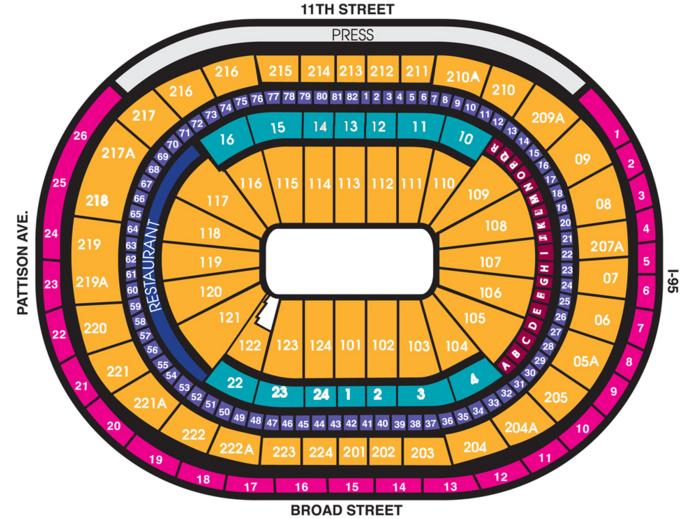 76ers seating chart: Wells fargo center philadelphia philadelphia tickets schedule