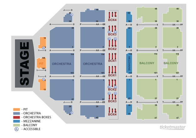 Boch center wang theatre boston tickets schedule seating charts