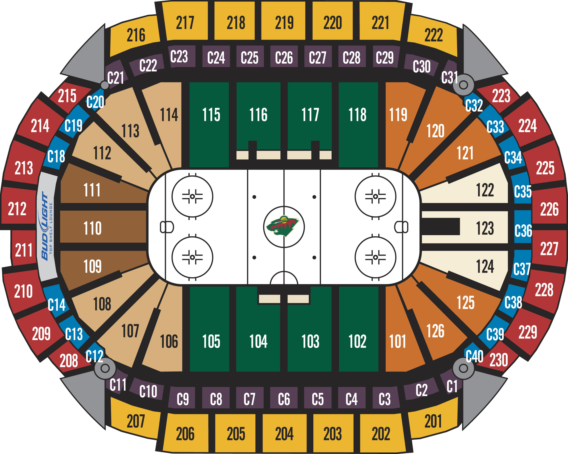 Xcel energy hockey seating chart energy etfs