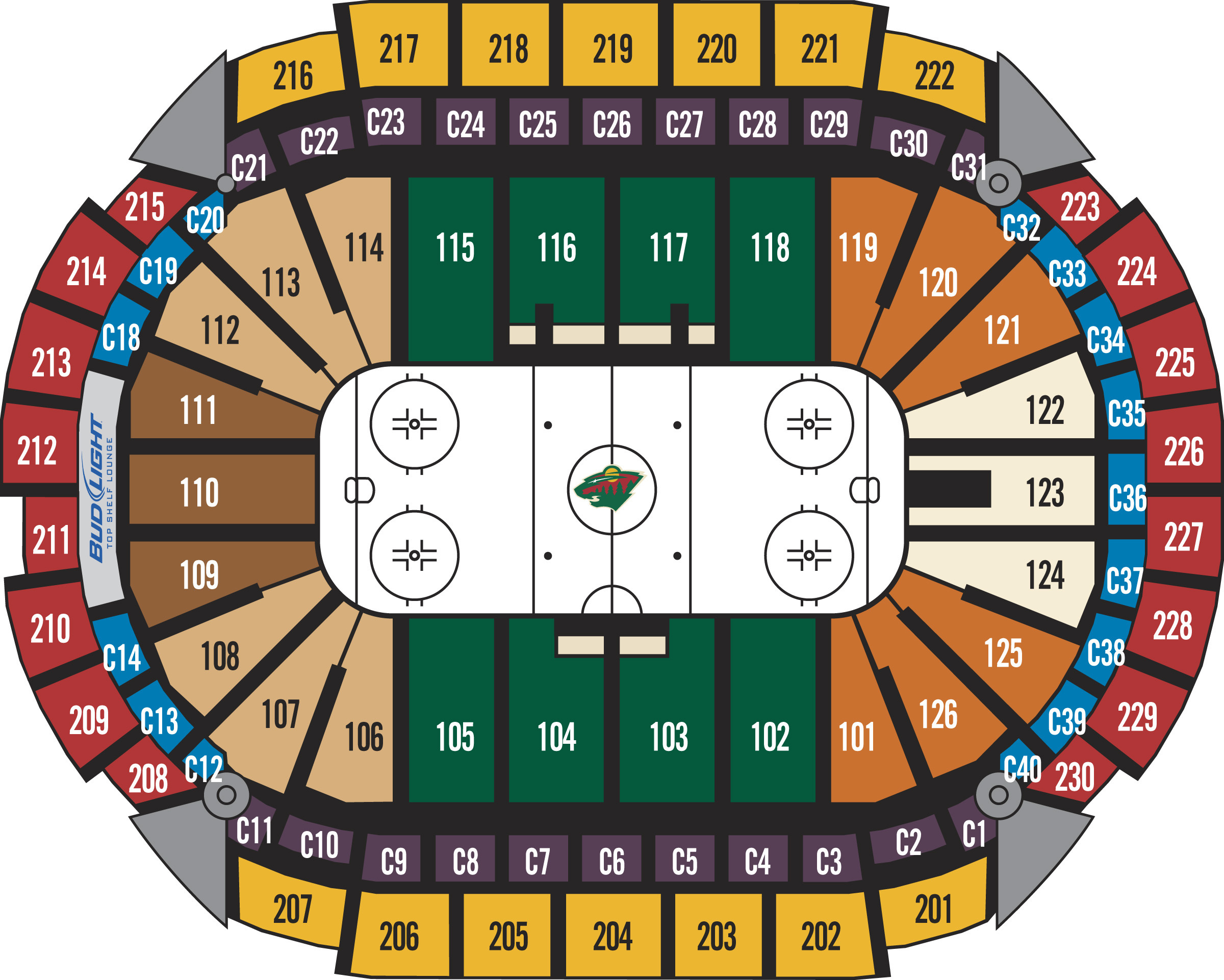 Xcel energy center minneapolis st paul tickets schedule seating