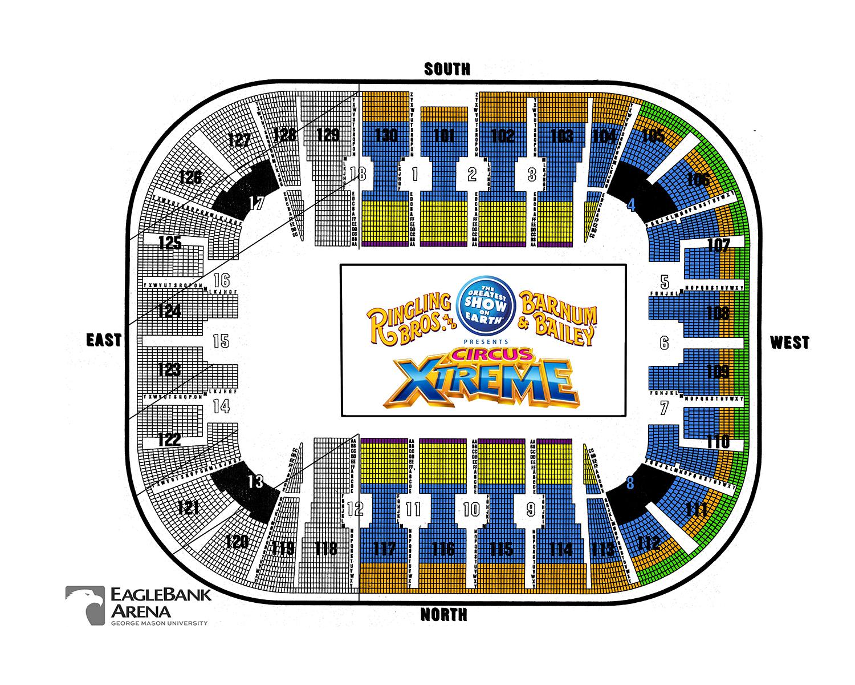 EagleBank Arena Washington DC Tickets Schedule Seating - Us bank arena map