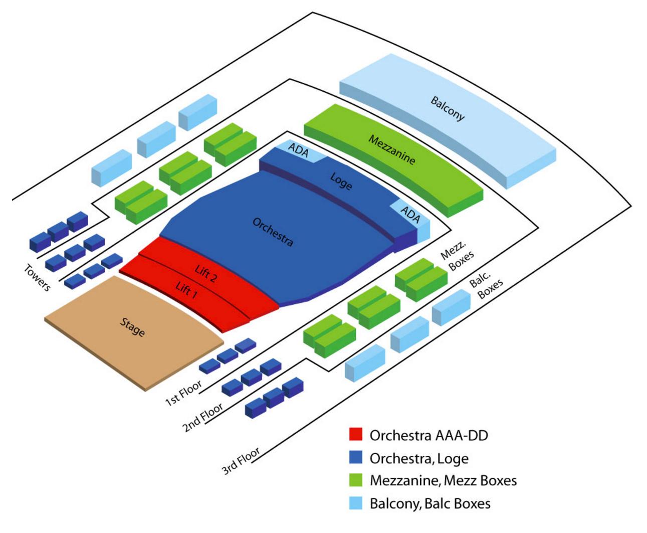 Pikes peak center denver tickets schedule seating charts goldstar