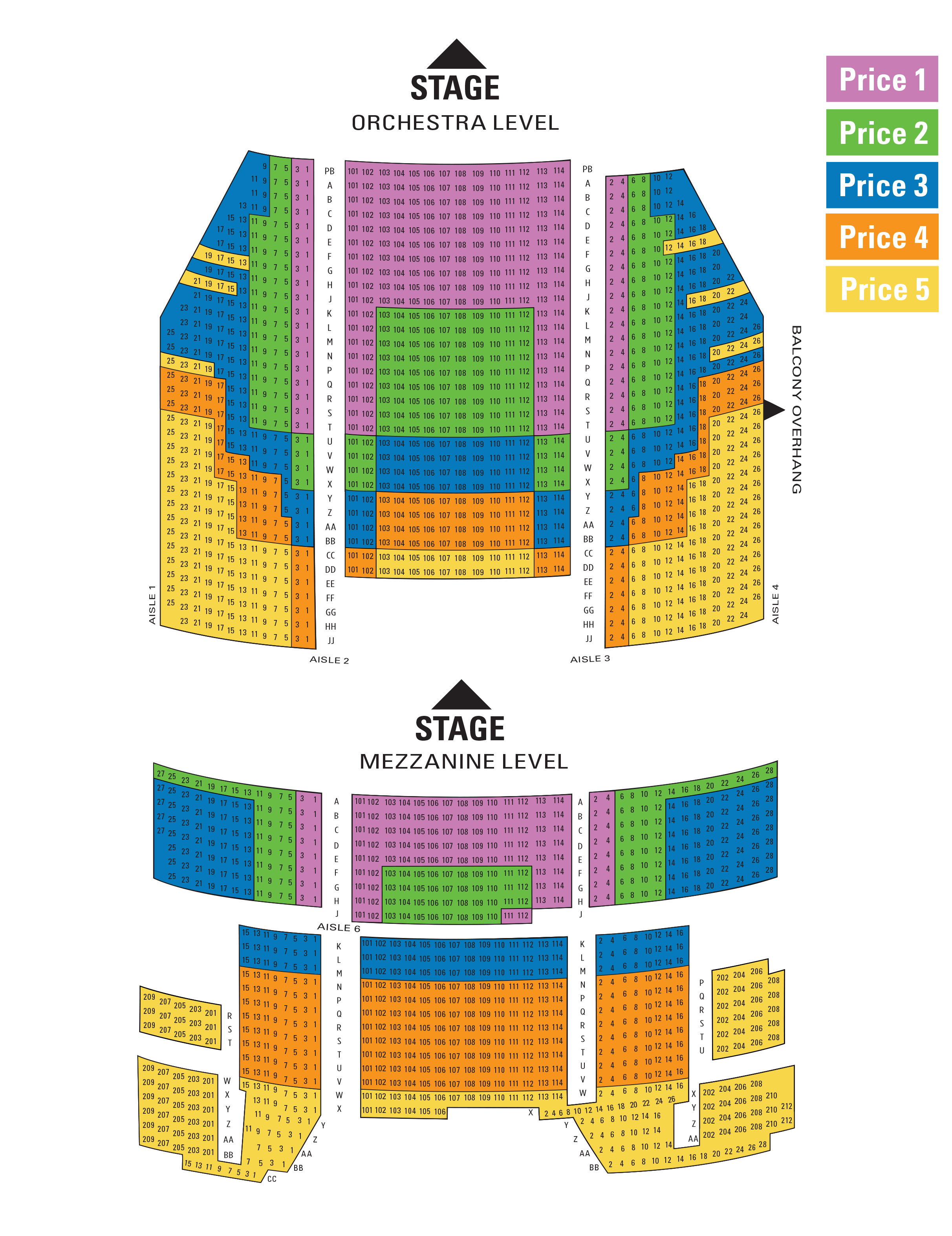 The 5th avenue theatre seattle tickets schedule seating charts