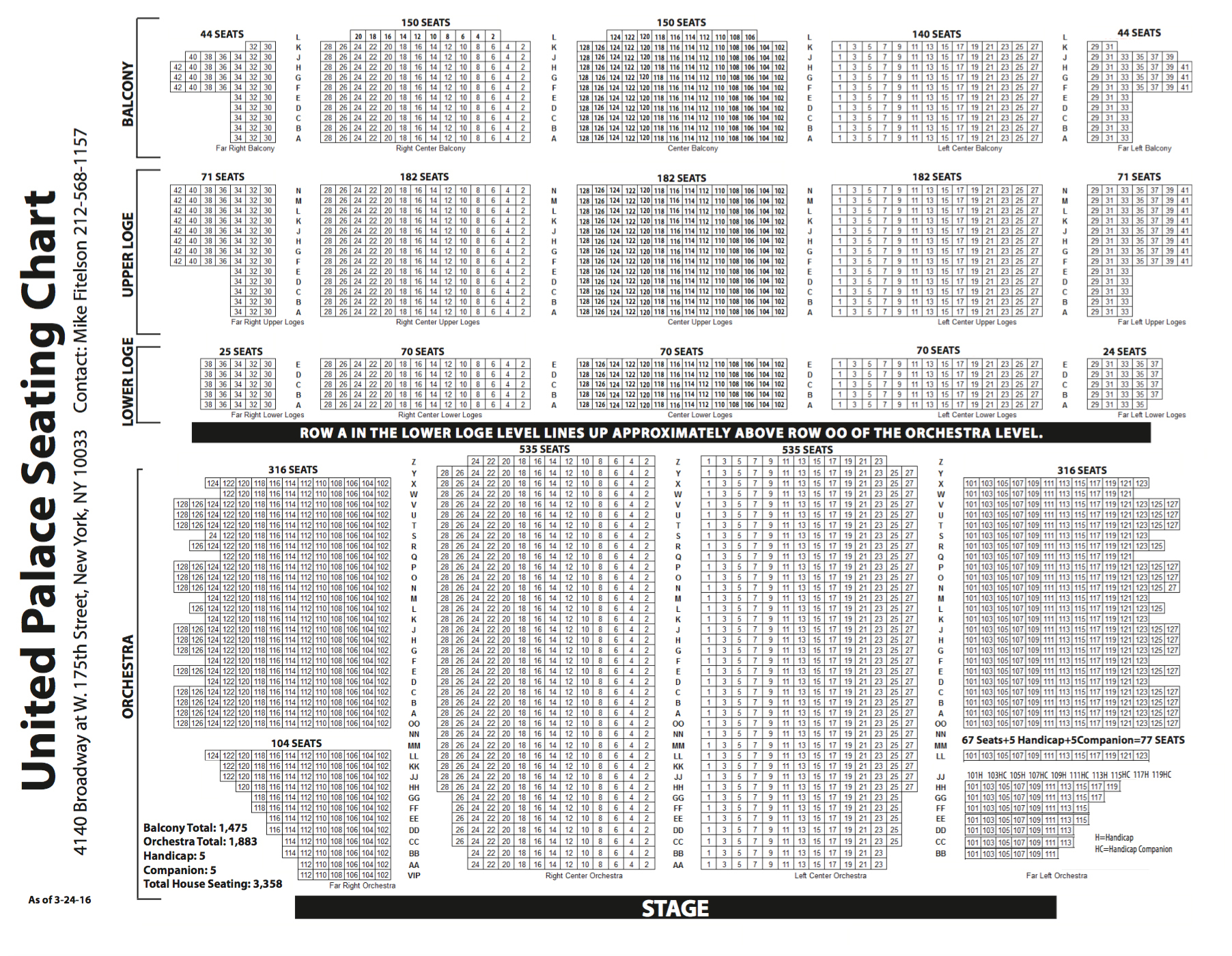 United palace new york tickets schedule seating charts goldstar
