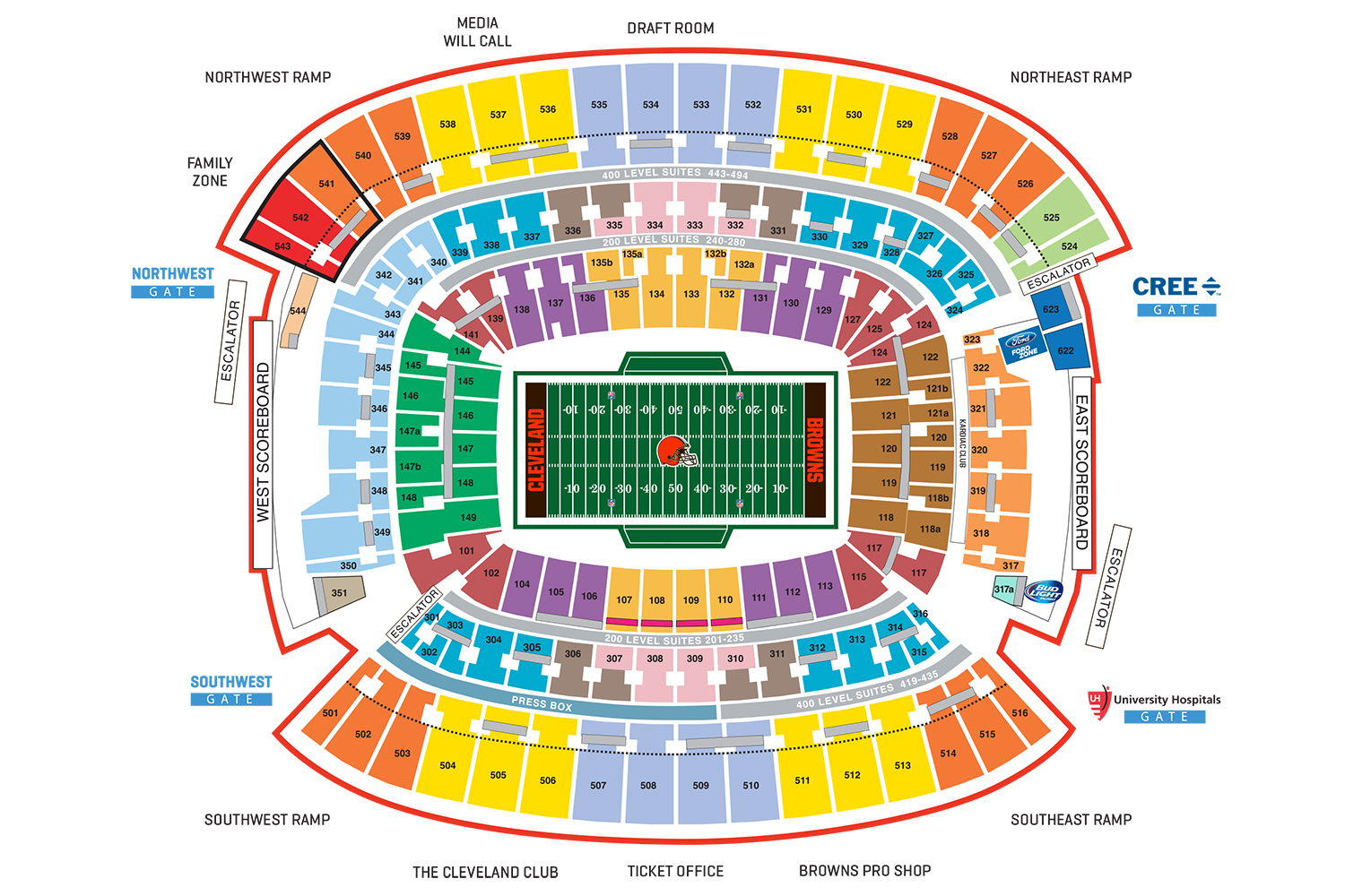 Firstenergy stadium cleveland tickets schedule seating charts