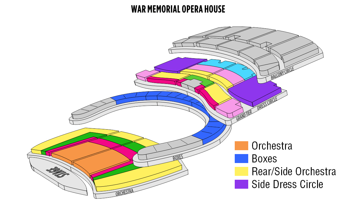 War memorial opera house san francisco tickets schedule
