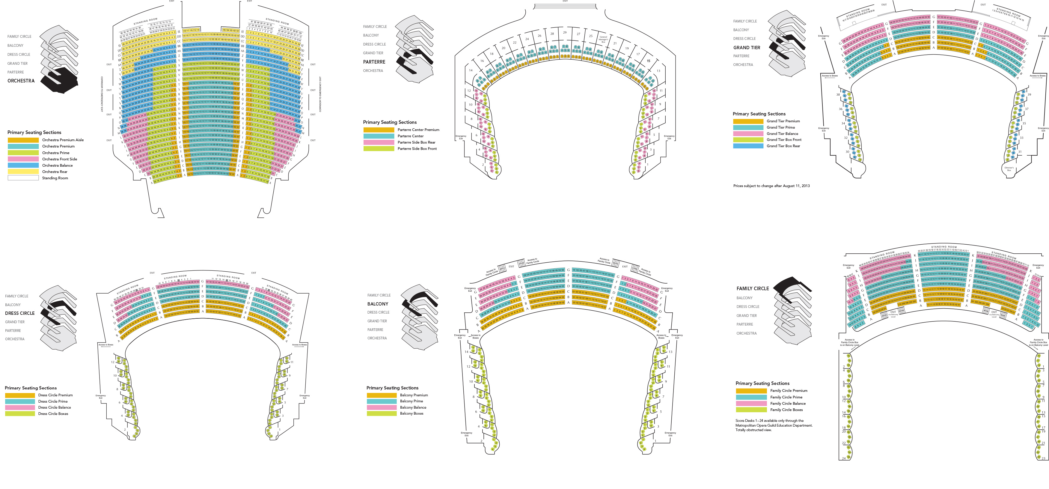 Metropolitan opera house new york tickets schedule seating