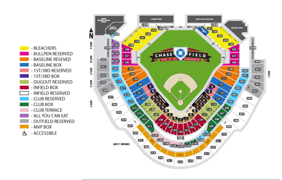 Chase field phoenix tickets schedule seating charts goldstar