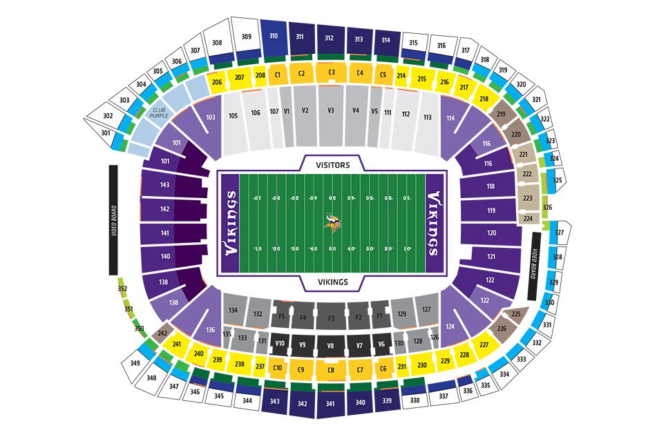 us bank stadium seating chart Dolapmagnetbandco