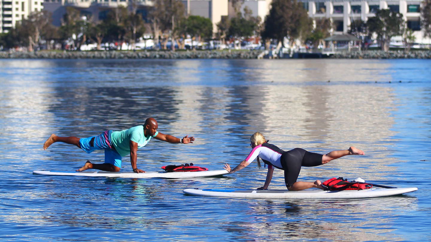 Yoga on the Waves: Stand Up Paddle Board Yoga $15.00 ($29 value)