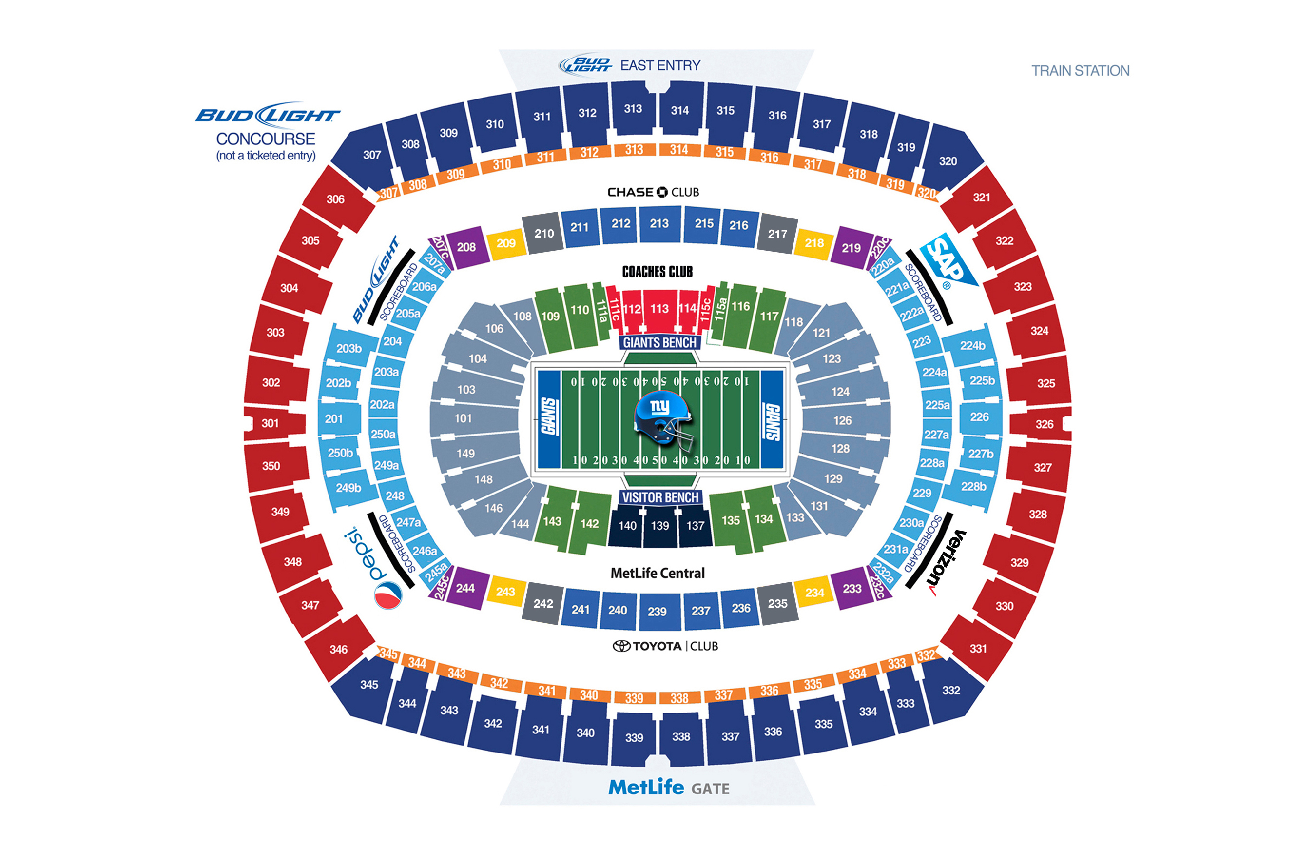 NY Giants Seating