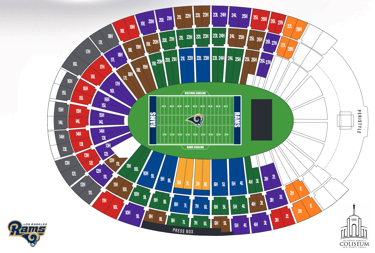 Seating Charts Stadiumsupertruck Usc Football 2017