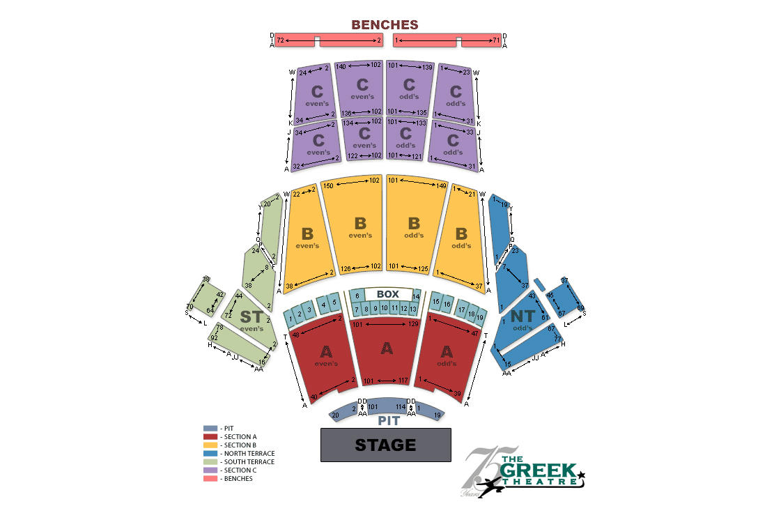 greek theatre, los angeles, ca: tickets, schedule, seating charts