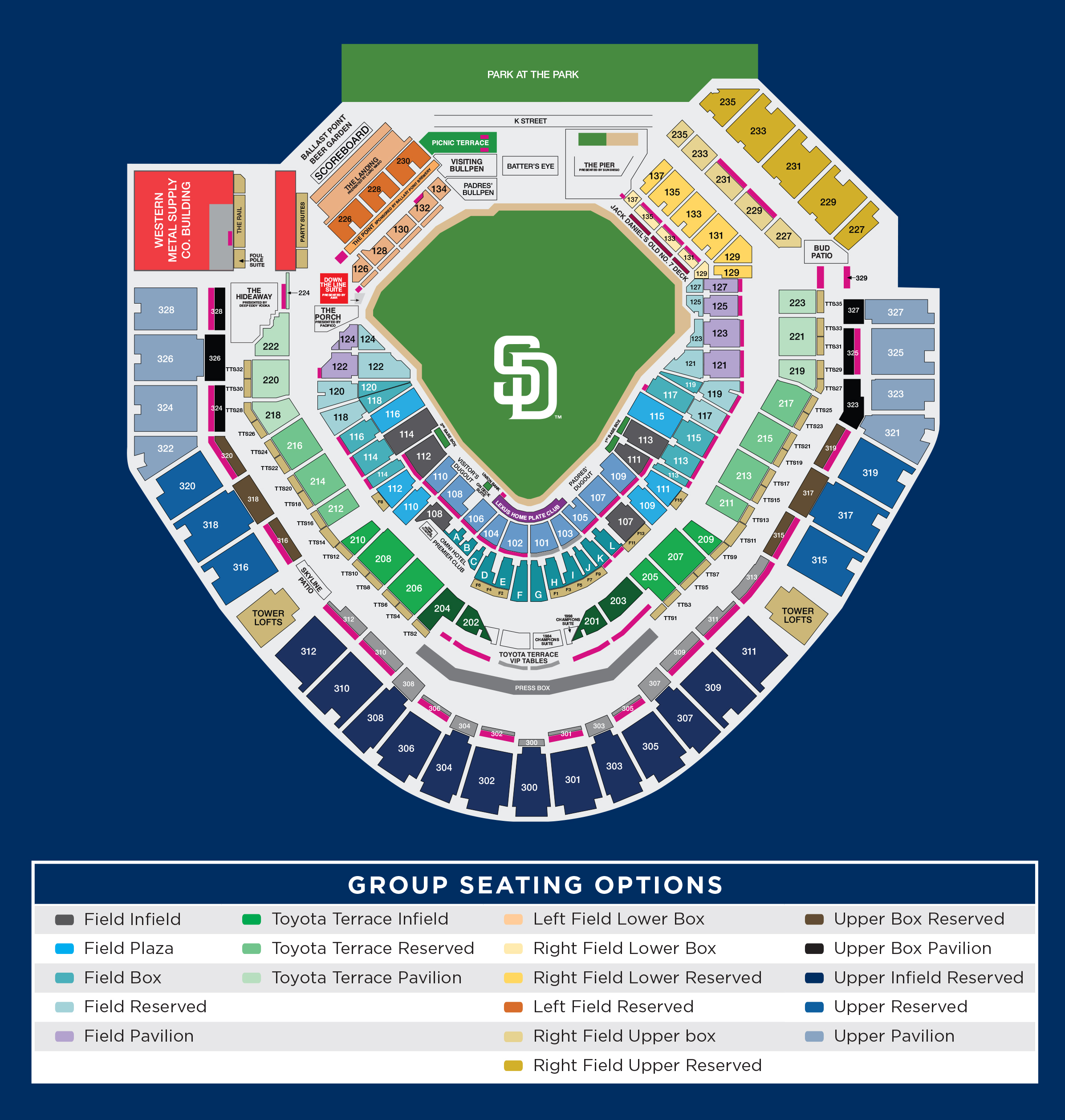 Petco park san diego ca tickets schedule seating charts goldstar