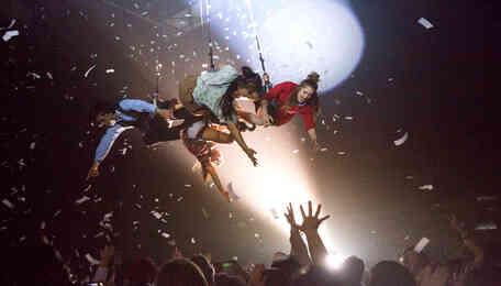 Off-Broadway Hit Fuerza Bruta Fuses Music, Dance, Acrobatics & More