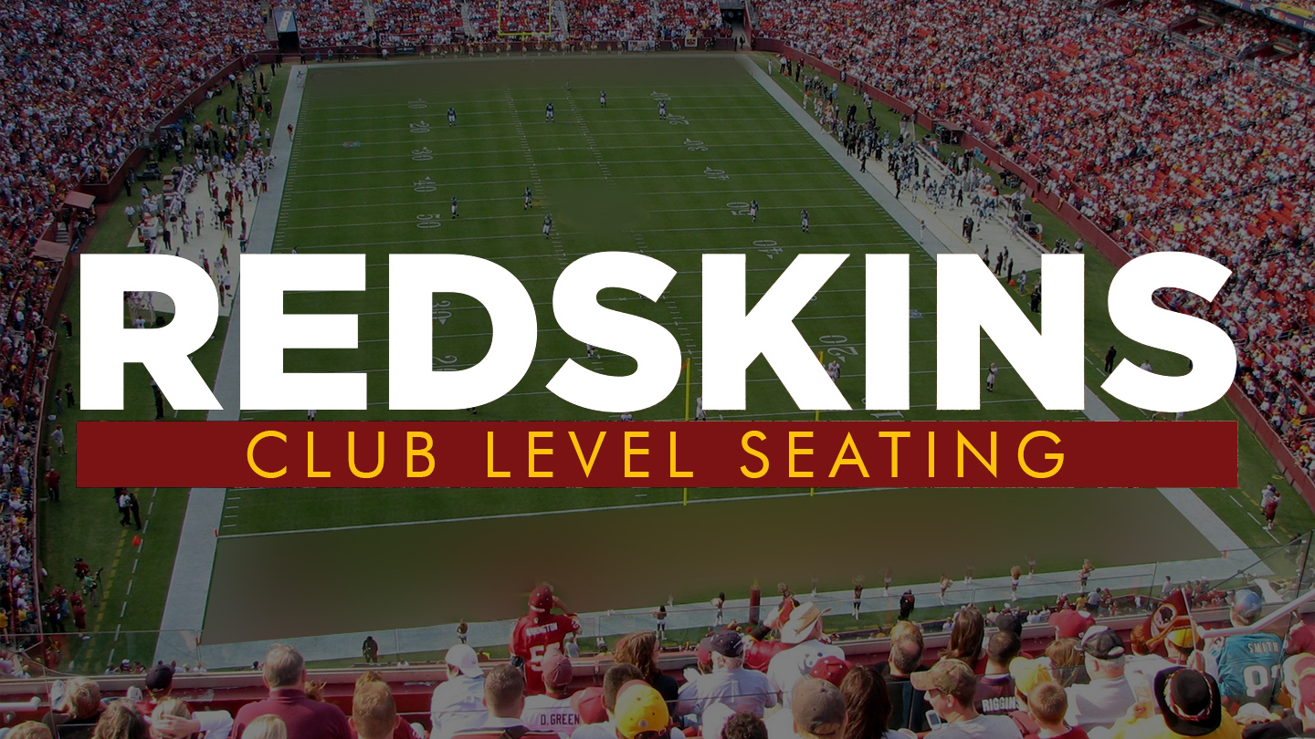 Watch Redskins Games in Style With Club Level Seating $145 - $165 ($680.55 value)